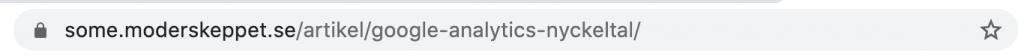 Skärmavbild på url: https://some.moderskeppet.se/artikel/google-analytics-nyckeltal/.