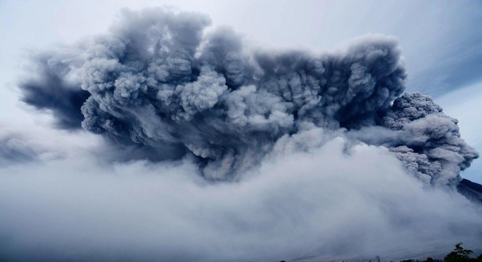 Askmoln efter vulkanutbrott