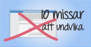 10 vanliga missar på Facebook